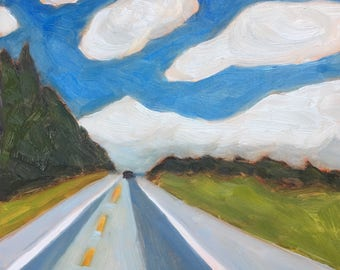 Orland, Maine, Downeast, Clouds, Downeast Maine, Nature, Route One, Contemporary Realism, Landscape, Oil Painting, Landscape Painting, Art