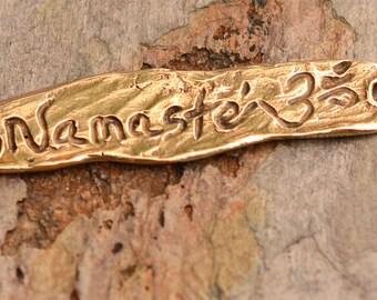 Artisan Namaste Bronze Bracelet lien focale