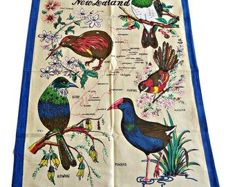 Tea Towel Souvenir Tea Towels Native Birds of New Zealand
