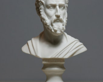 Sophocles Greek Ancient Writer Playwright Alabaster Bust Head Statue Sculpture 6in - 15.5cm **Free Shipping & Free Tracking Number**