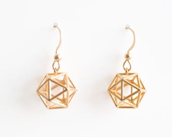 Icosahedron Earrings