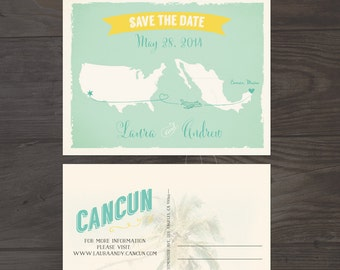 Destination Wedding Save the Date Card USA Mexico Wedding bilingual wedding invitation Spanish English invitation DEPOSIT PAYMENT