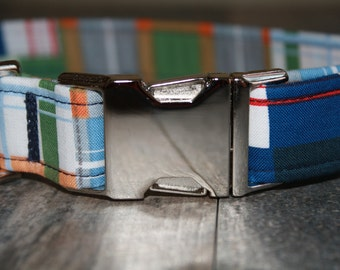 Dog Collar with Metal Hardware- YOU PICK The FABRIC