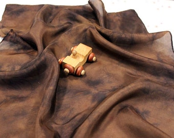 Mud Dirt Playsilk ~ Hand Dyed ~ Brown ~ Waldorf Inspired!