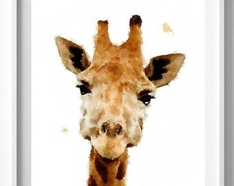 Giraffe Print, Nursery Animal Wall Art, Kids  Art,  Nursery Decor, Safari African Animal Print Pic no 18