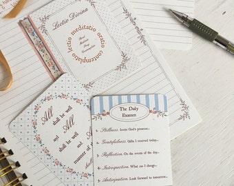 Journal Cards, Prayer Cards, Contemplative Prayer Cards, Daily Examen, Prayer of St. Julian, Lectio Divina