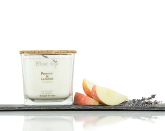 Apple and lavender Soy Candle