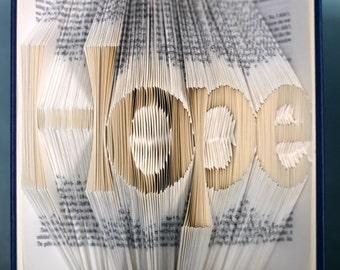 Folded Book Art - Hope - Hardcover Book