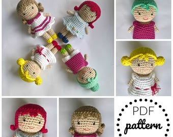 ENG version - Amigurumi doll - crochet doll - PDF crochet pattern - PDF - amigurumi pattern - doll - amigurumi toy - mini doll instructions