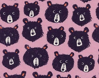 Teddy and the Bears Lilac - Cozy - Melody Miller - Cotton + Steel - Quilters Cotton Available in Yards, Half Yards, Fat Quarters C5145-002