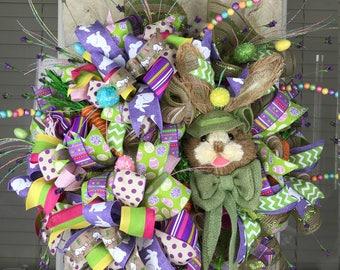SOLD!  Peter Rabbit BUNNY EASTER wreath