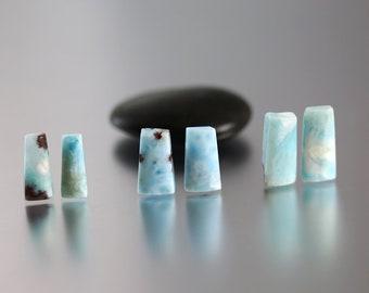 Larimar Bead Pairs - 15-18 mm - Larimar Beads - Plate Briolettes