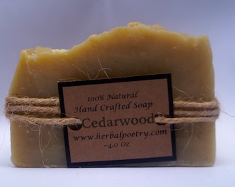 100 % Natural Cedarwood Soap