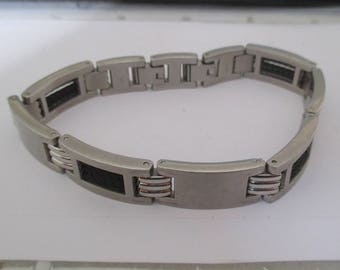 Silver steel bracelet