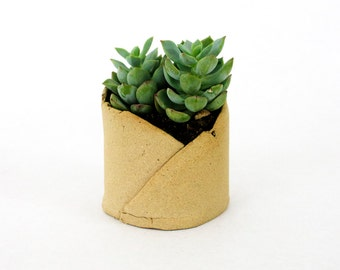Planter // Small Tan // Succulent Planter // Gift for home