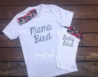 Mama/Baby Bird Set w/Matching Headbands