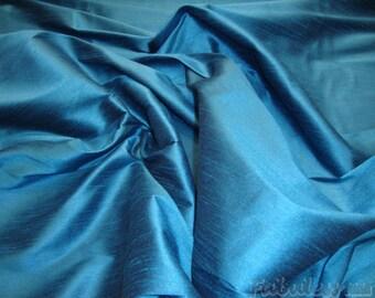 Horizon Blue Shantung Dupioni Faux Silk