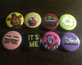 Five Nights At Freddy's Pins - Set of 8