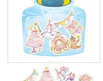 Sticker Flakes - Girly Party Stickers - Flake Stickers - Cinderella Stickers - Fairytale Stickers - Kawaii stickers - Cute sticker flakes