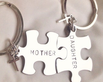 mother daughter gifts mother daughter keychain boyfriend gift husband wife gift personalized keychains natashaaloha