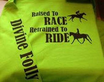 Hoodie - Raised to race Retrained to ride