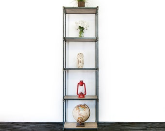 Beautiful Hand Made Vintage Industrial Shelving Unit