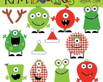 KPM Christmas Monsters Digital Clip art