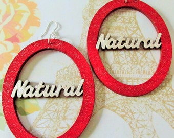 """Red and White """"Natural"""" Earrings"""