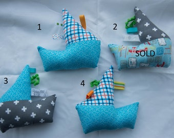 Sailboat, stuffed toy, stuffed sailboat, baby toy