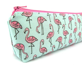 Tiny Pink Flamingo Pencil Case - Pencil Pouch - Zip Pouch - Small Bag - Zipper Pouch - Planner Pencil Case Organiser