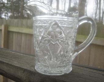 Vintage Pressed Glass Pitcher