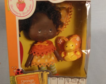 Vintage Strawberry Shortcake Doll-Orange Blossom With Marmalade-Kenner-1979-With Box