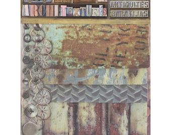 7Gypsies Architextures JUNQUE PACK - GARAGE Mixed Media Textures 22 Pc #7g25033