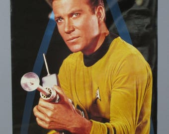 Rare vintage original 1996 Star Trek 36 by 24 inch NBC tv series poster: 1990's television show pin-up with William Shatner as Captain Kirk