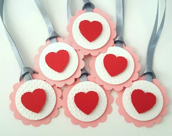 Valentine's day favor tags / valentine favor tags / valentine gift tags / valentine tags / heart gift tags / valentine's day tags /