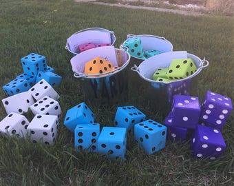 Two in one Yardzee/Farkle Yard Game, , Jumbo dice, Farkle, Yard Dice, Yard Games,  Games, Yard Dice, Dice,Lawn Dice