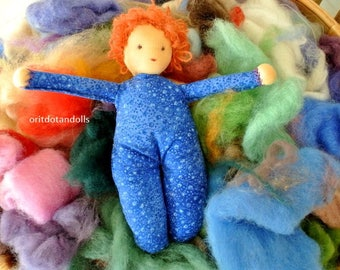 Waldorf doll 9.5inch\24cm, play doll for kids made of natural eco materials