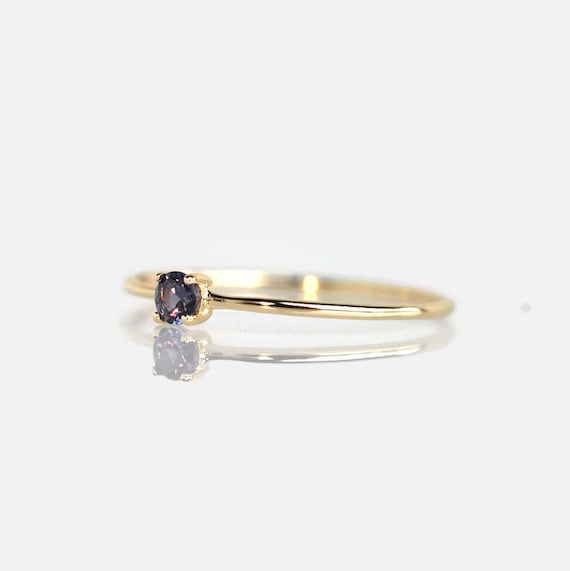 color change garnet ring 14k gold ring promise ring
