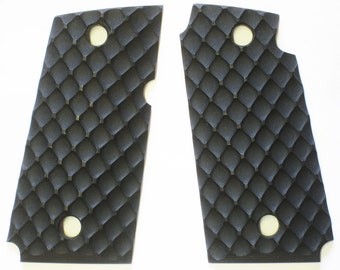 "Duragrips - Kimber Micro Carry 9mm 9 Tactical Grips - "" D FENCE "" Black"