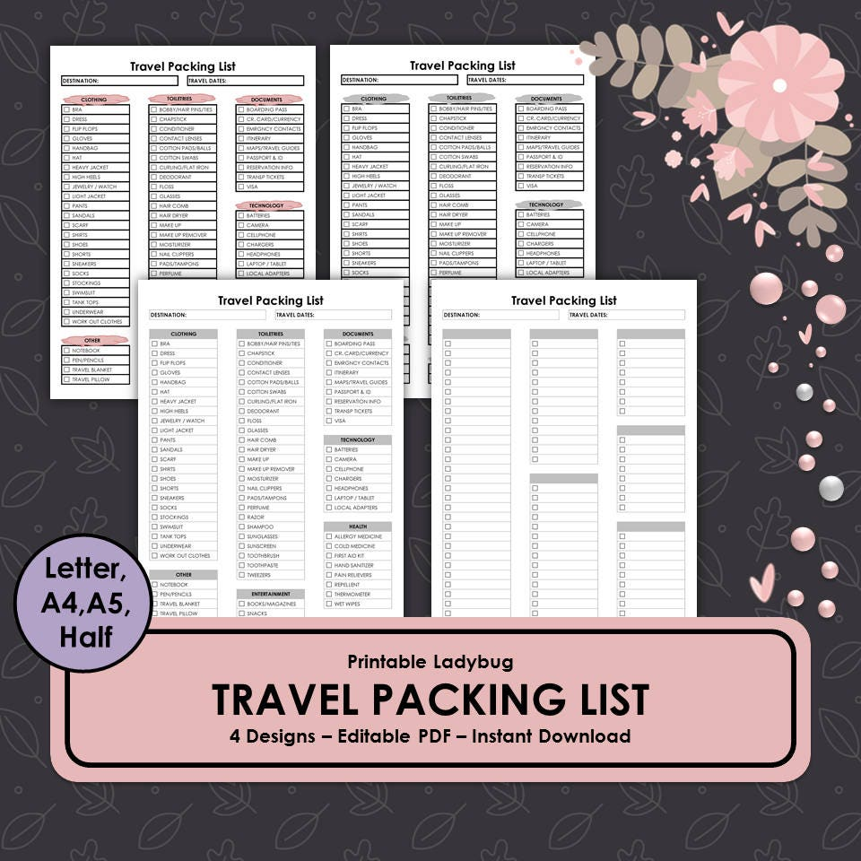 Großartig Kostenlose Packliste Vorlage Zeitgenössisch - Beispiel ...