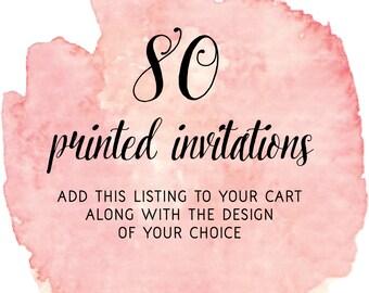 Set of 80 Printed Invitations