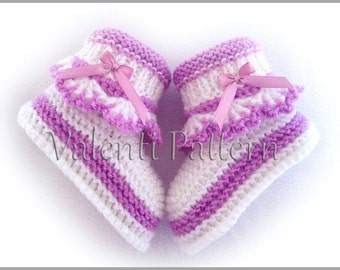 Baby Booties Pattern, Baby Booties, Knitting Pattern Baby ,Baby Booties ,Baby Boots, PDF PATTERN