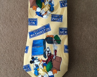 Mickey Unlimited, Disney Tie, Mickey and friends, vintage