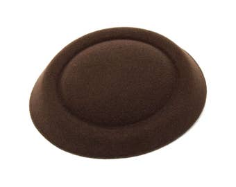 """6 1/2"""" Brown Oval Pillbox Stewardess Fascinator Millinery Hat Base - Available in 17 Colors"""