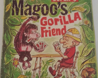 "Vintage Super 8 Classic Cartoon Movie ""Mr Magoo's Gorilla Friend"" United Arista Films M-1 #UA217 BW/Silent Retro Litho Graphics Collectible"