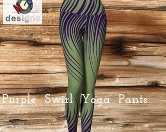 Purple Swirl Yoga Pants