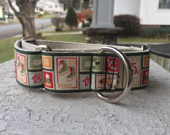 """Cletus' Christmas Stamps - 1.5"""" Martingale Collar"""