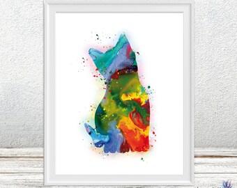 Kitten watercolor art print - Cat lovers - Kitten watercolor art -nursery painting