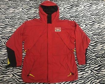Vintage 90s Marlboro Adventure Team Jacket Hoodies Racing Red Colour Sportwear
