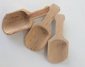 vintage wooden scoops